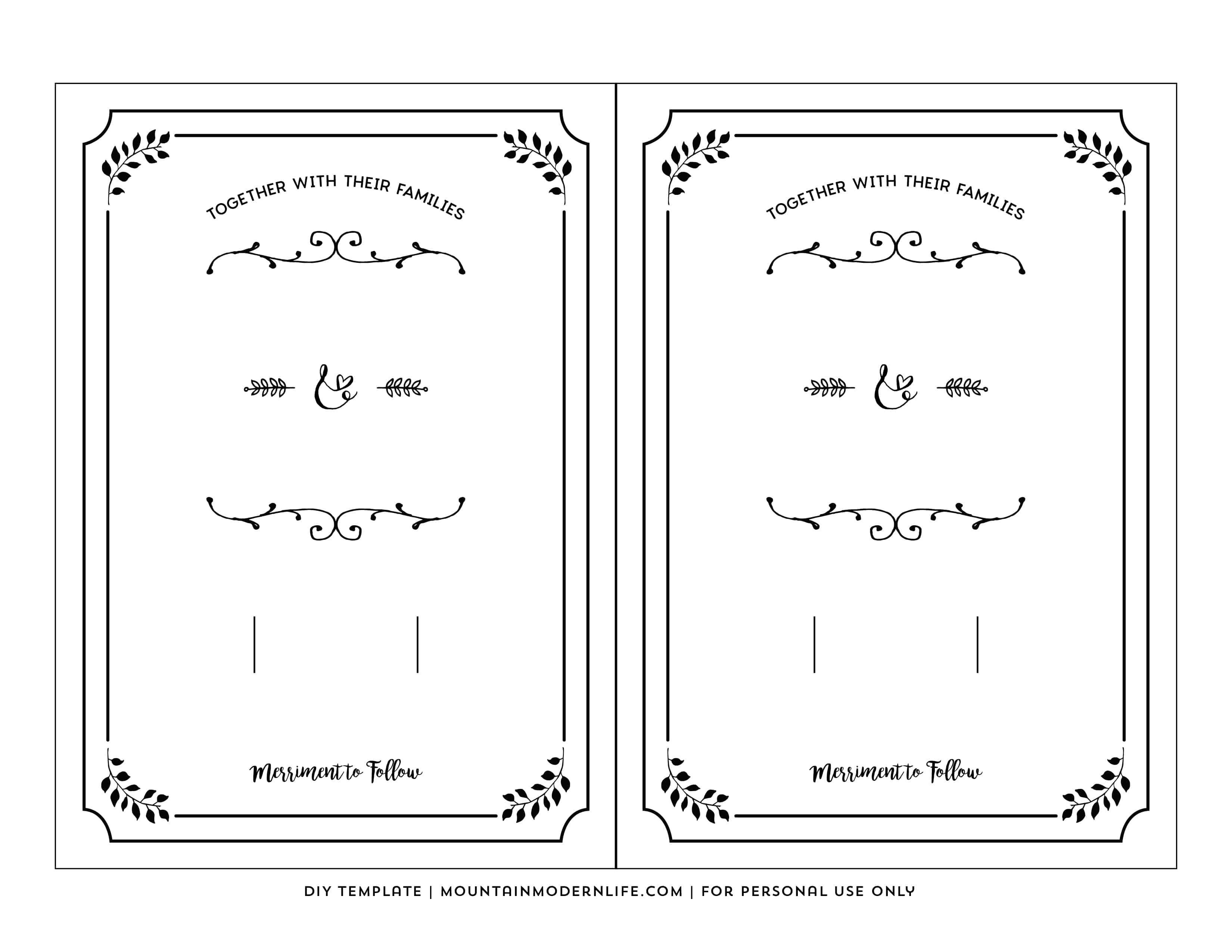 Free Printable Wedding Invitation Template - Free Printable Wedding Invitations With Photo