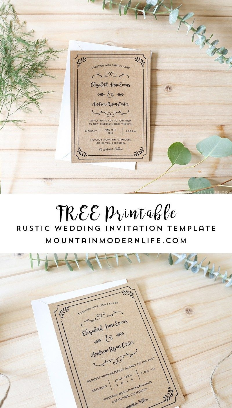 Free Printable Wedding Invitation Template | | Freebies | | Free - Free Printable Wedding Invitations Templates Downloads