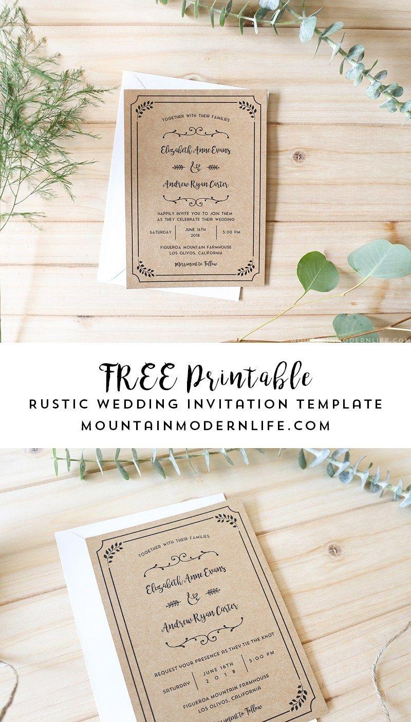 Free Printable Wedding Invitation Template | | Freebies | | Free - Free Printable Wedding Invitations With Photo