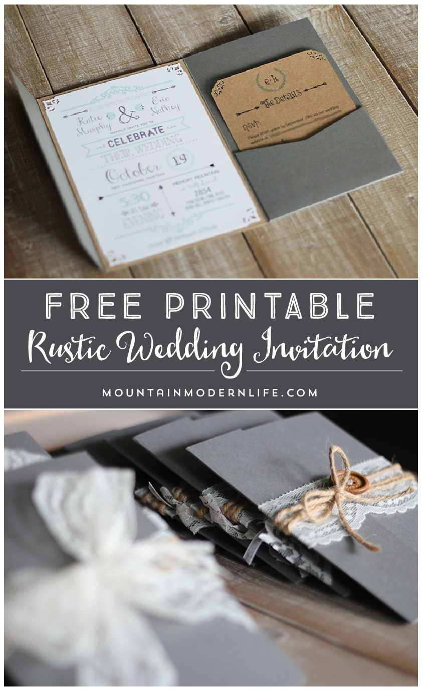 Free Printable Wedding Invitation Template | | Mountainmodernlife - Free Printable Wedding Invitations Templates Downloads