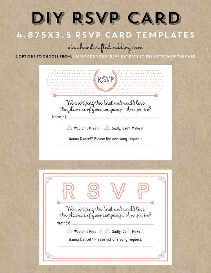 Free Printable Rsvp Cards