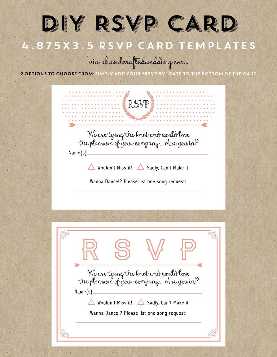 Free Printable Wedding Invitation Template   Wedding Invitations - Free Printable Rsvp Cards