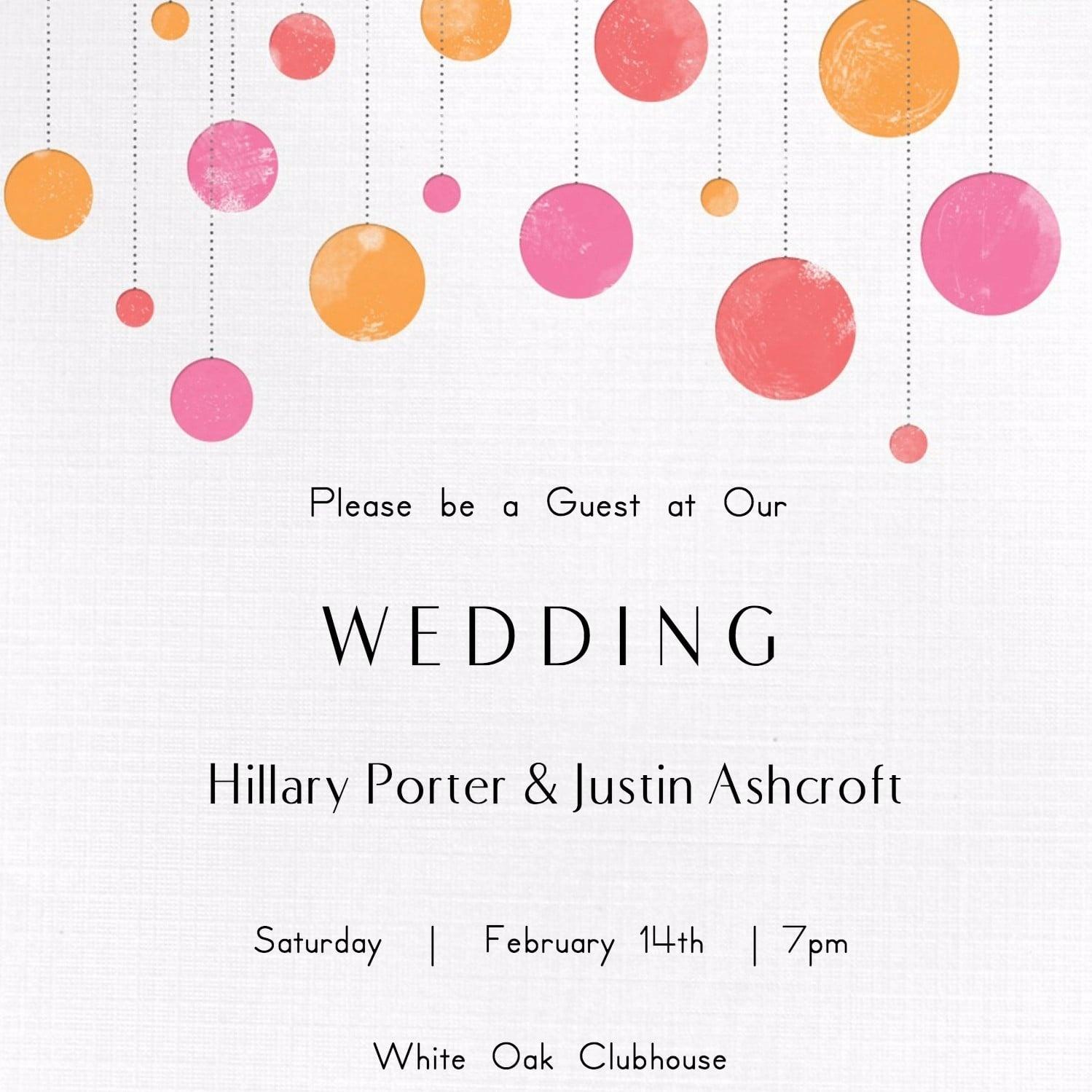 Free Printable Wedding Invitations   Popsugar Smart Living - Free Printable Wedding Cards