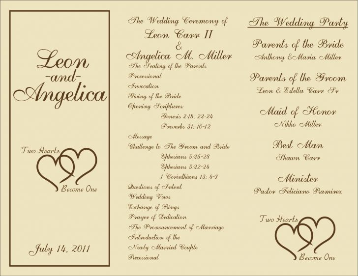 Free Printable Wedding Program Samples