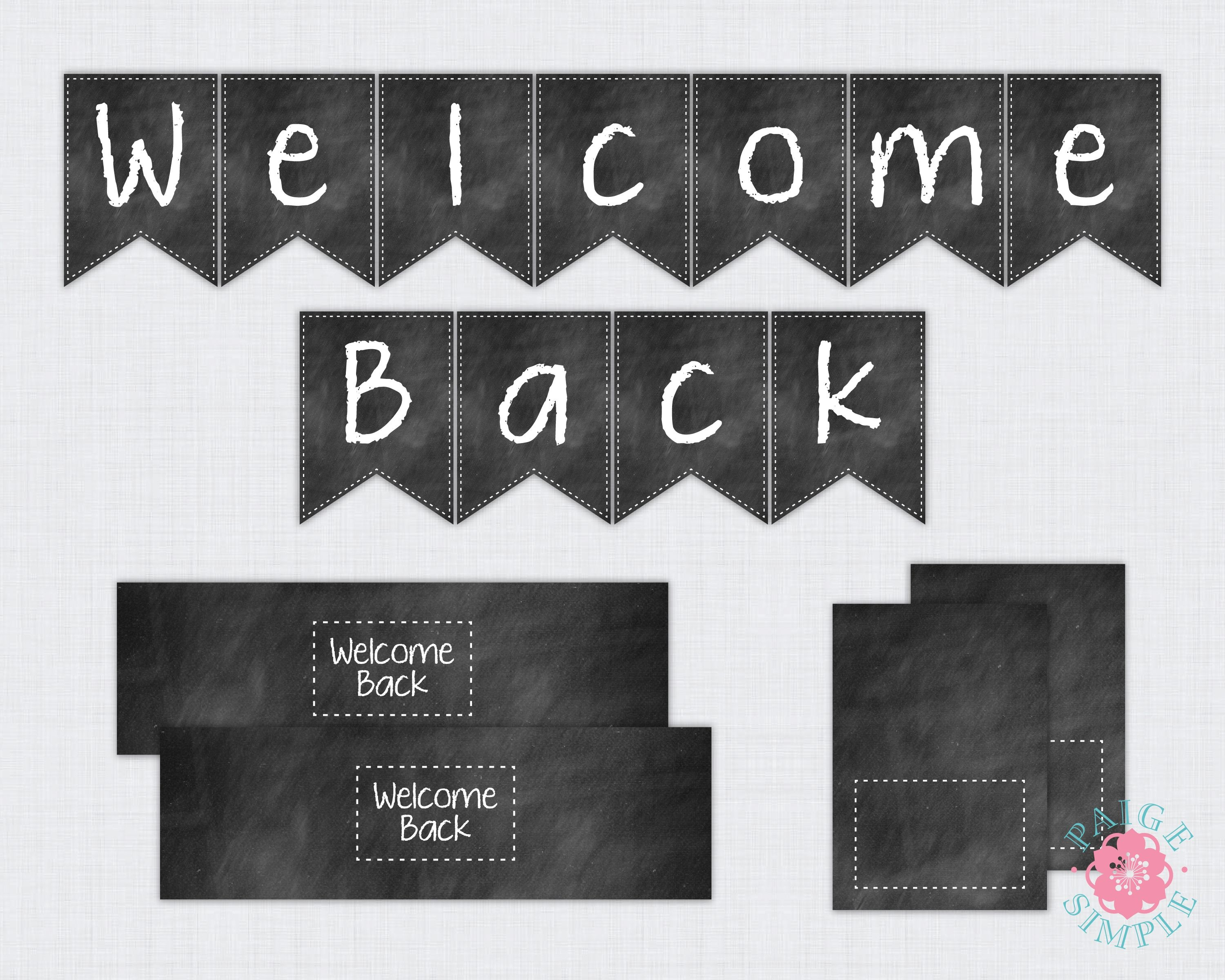 Free Printable Welcome Back To School Banner   Bulletin Boards - Welcome Back Banner Printable Free