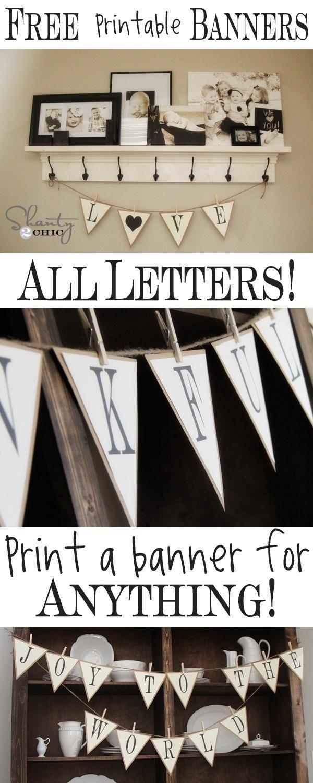Free Printable Whole Alphabet Banner | Printables | Free Printable - Free Printable Welcome Banner Template