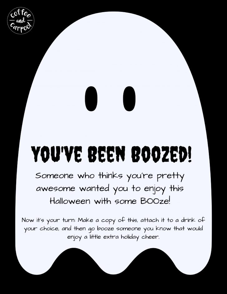 You Ve Been Boozed Free Printable