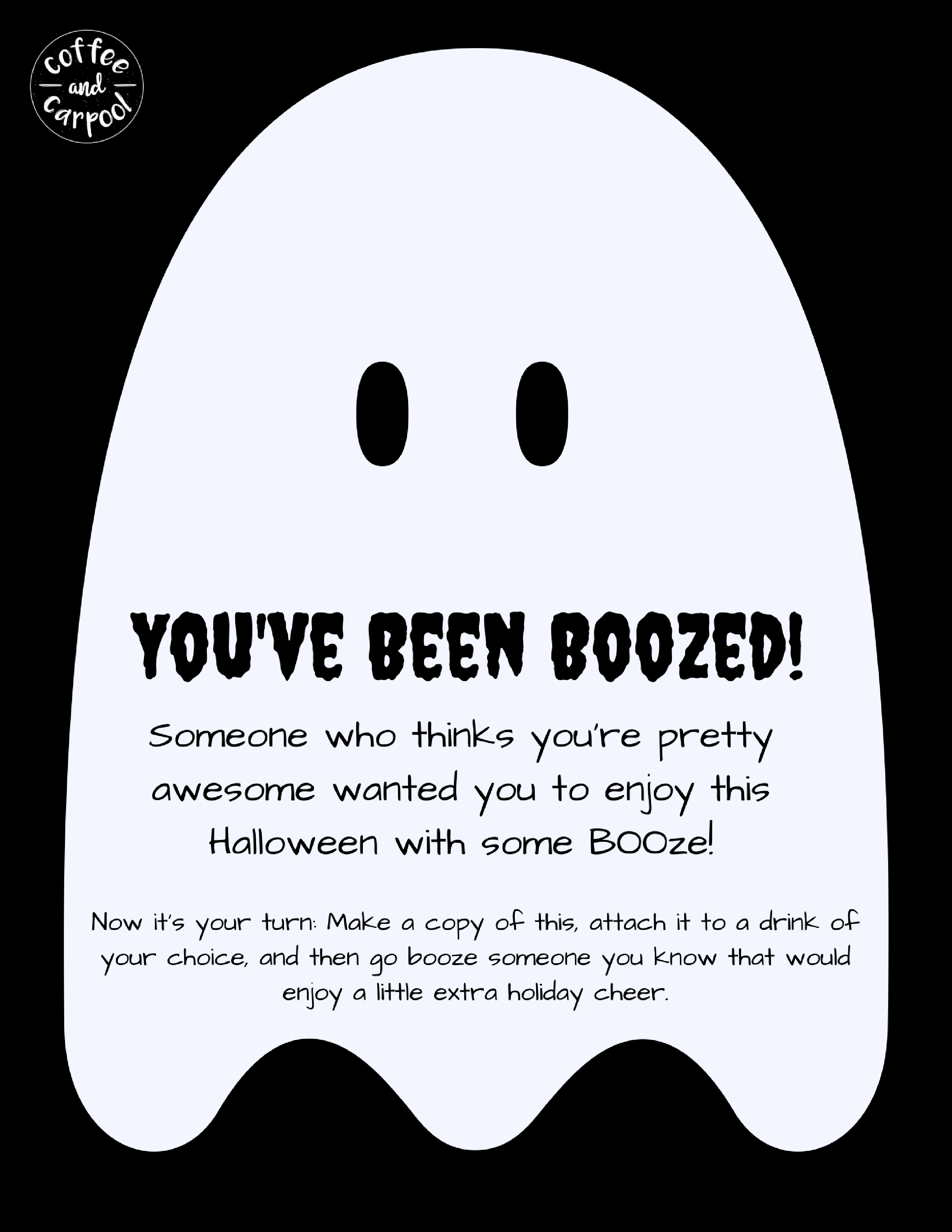 Free Printable You've Been Boozedthe Adult Version Of You've Been - You Ve Been Boozed Free Printable