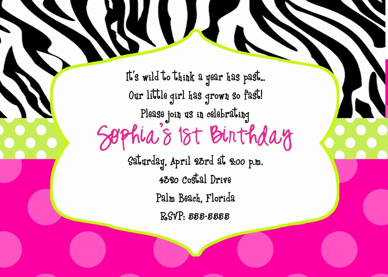 Free Printable Zebra Print Birthday Invitations - Demir.iso - Free Printable Animal Print Birthday Invitations