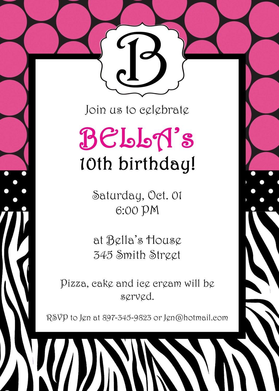 Free Printable Zebra Print Invitations Baby Shower   Emma   Free - Free Printable Zebra Print Birthday Invitations