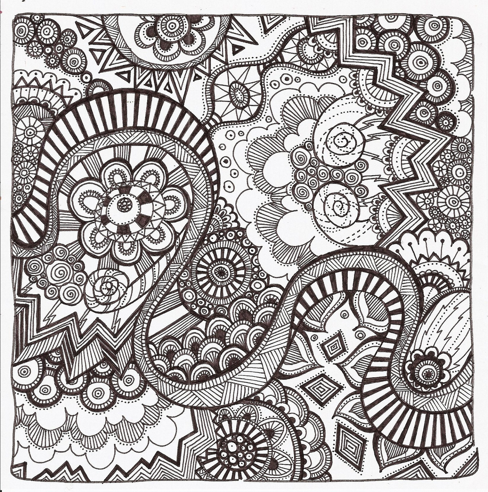 Free Printable Zentangle Coloring Pages For Adults - Free Printable Zen Coloring Pages