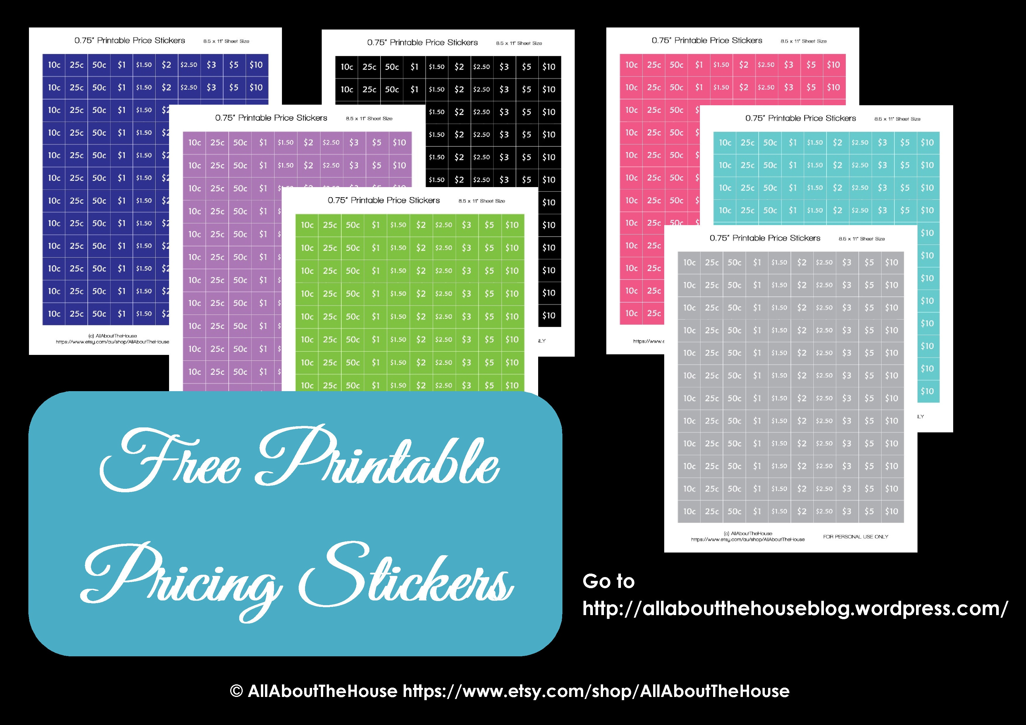 Free Printables | Allaboutthehouse Printables - Free Printable Price Labels