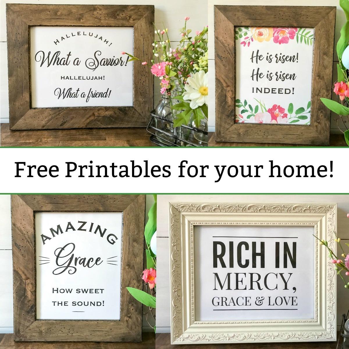 Free Printables Christian Wall Art - Spring And Easter Decor - Mamashire - Free Printable Christian Art