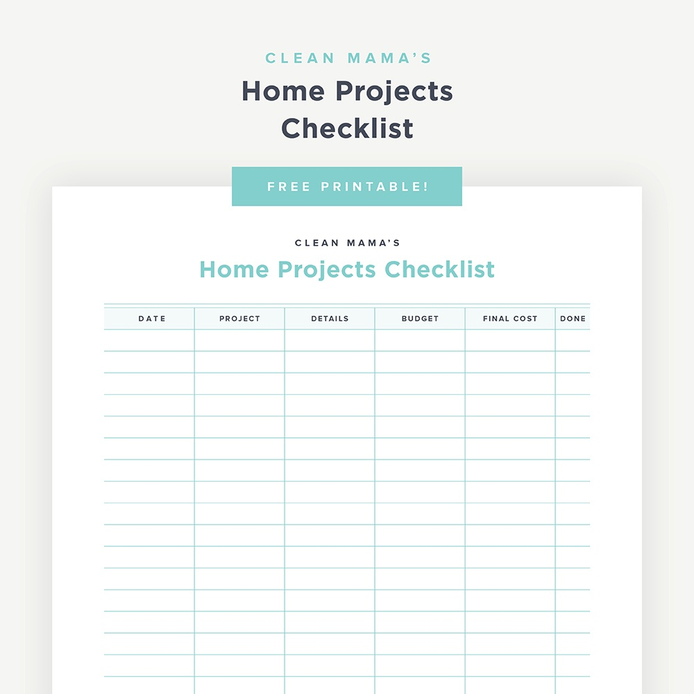 Free Printables - Clean Mama - Free Printable Checklist