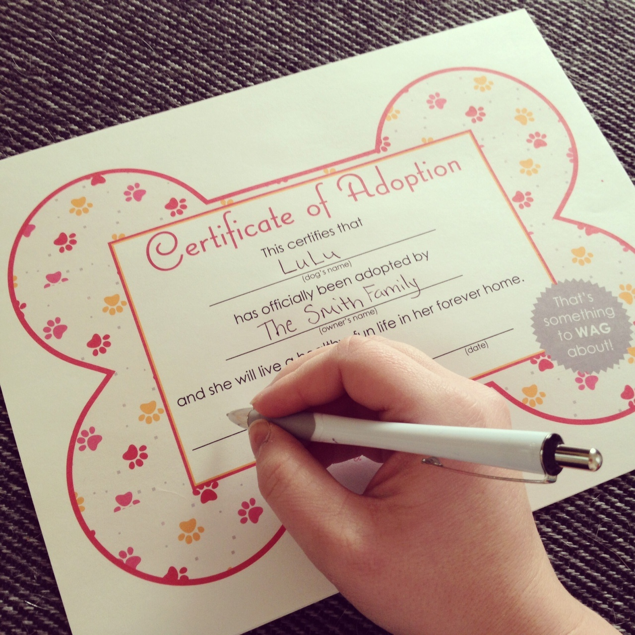 Free Printables} Dog Adoption Certificates | Big Dot Of Happiness - Free Printable Stuffed Animal Adoption Certificate