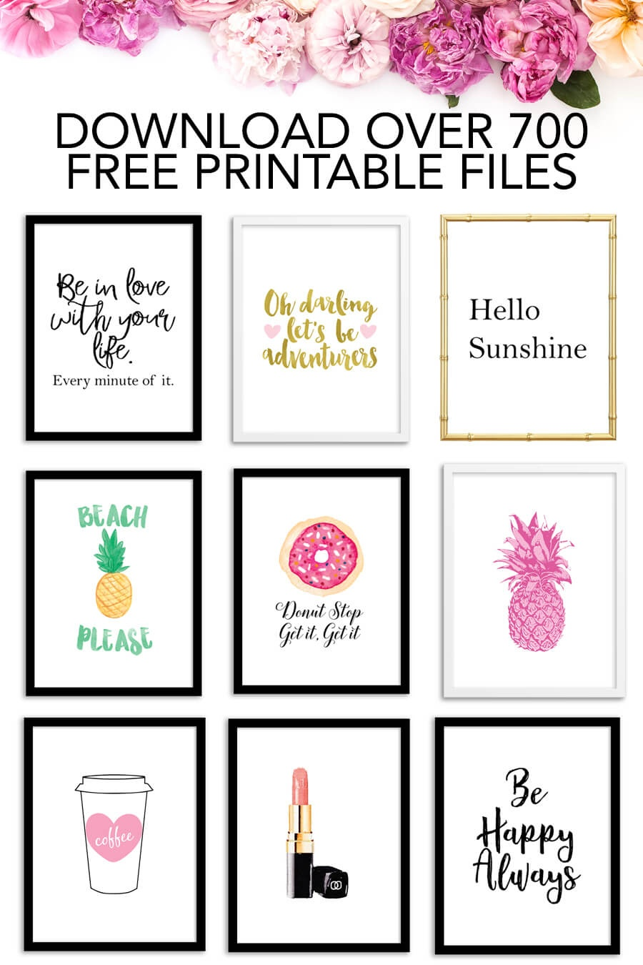 Free Printables - Download Over 700 Free Printable Files! - Chicfetti - Free Printable Pictures