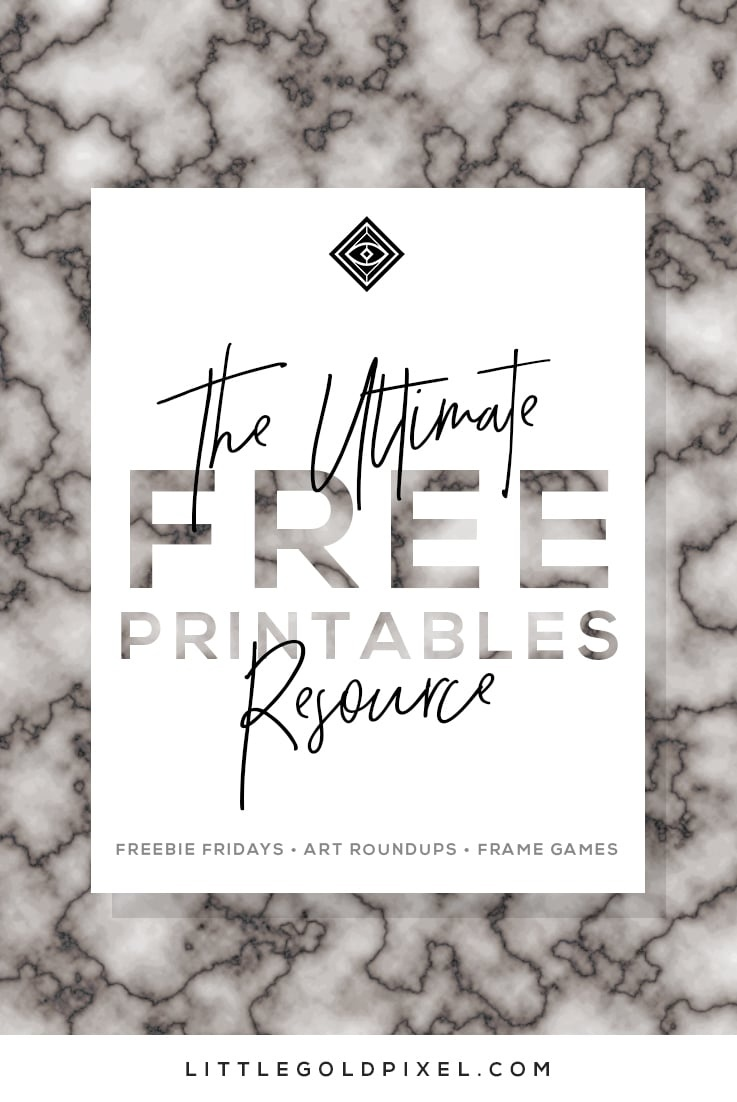 Free Printables • Free Wall Art Roundups • Little Gold Pixel - Make Posters Online Free Printable