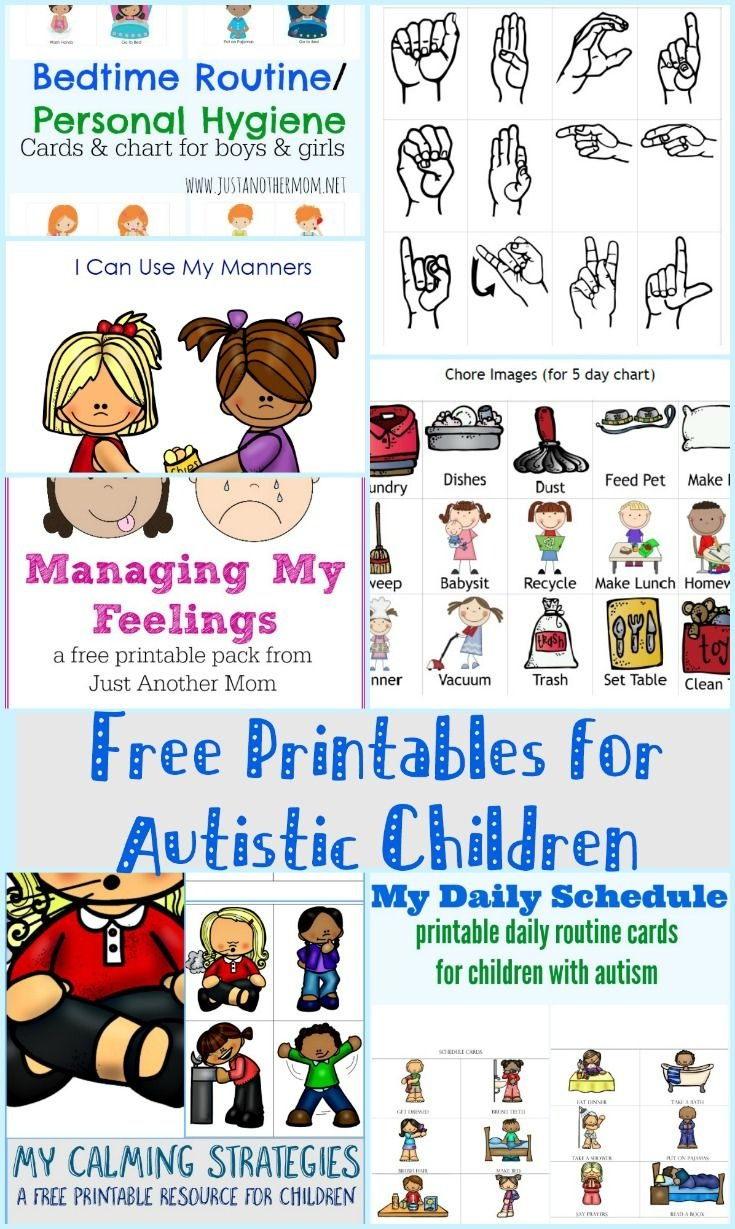 Free Printables For Autistic Children And Their Families Or - Free - Free Printable Sensory Stories