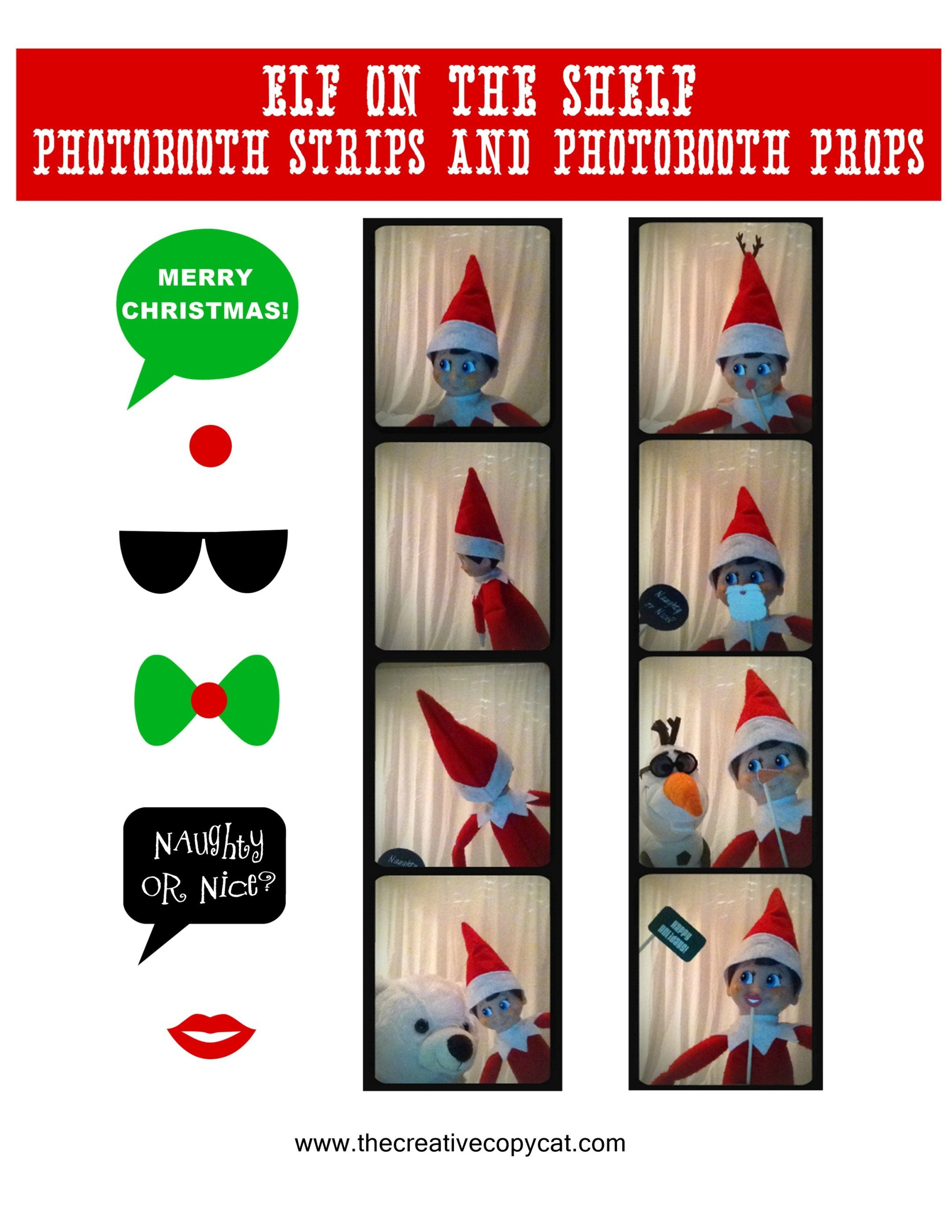 Free Printables For Elf On The Shelf Sized Photobooth Props And - Elf On The Shelf Printable Props Free