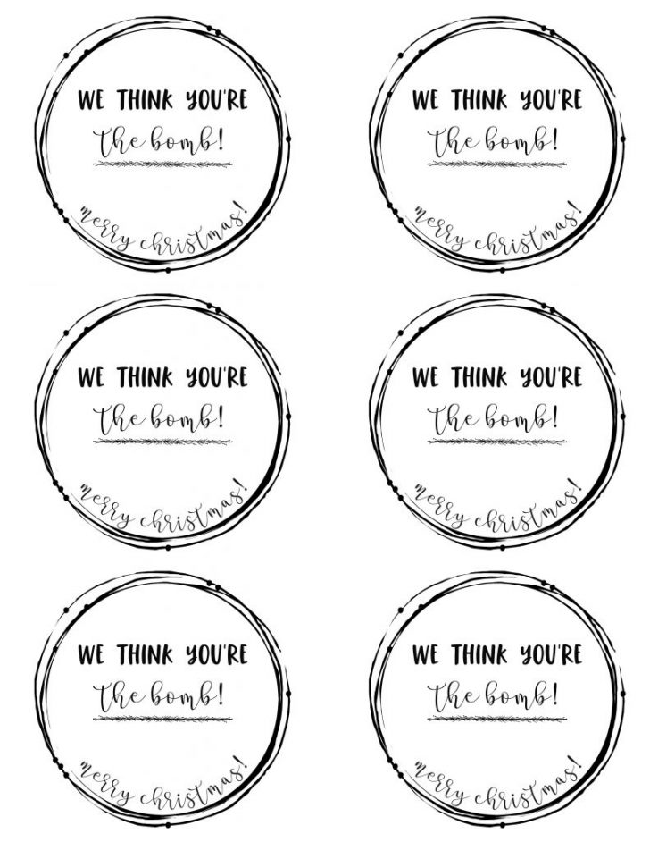 Christmas Gift Tags Free Printable Black And White