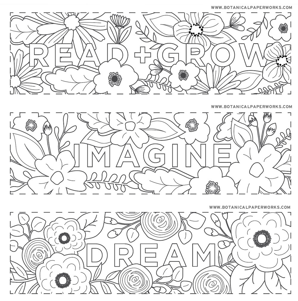Free Printables} Read + Grow Coloring Bookmarks For Back-To-School - Free Printable Bookmarks