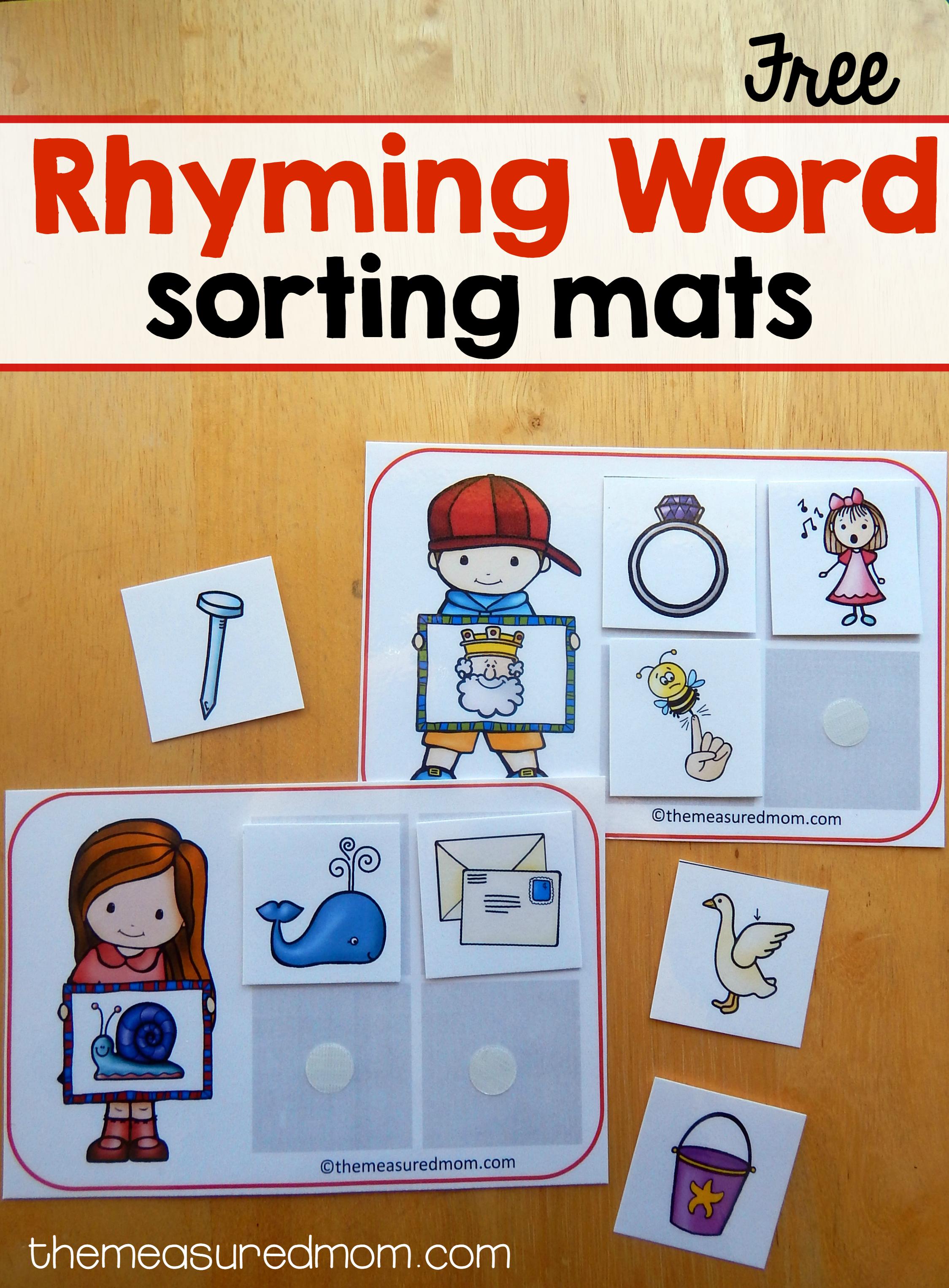 Free Printables - The Measured Mom - Free Printable Word Family Mini Books