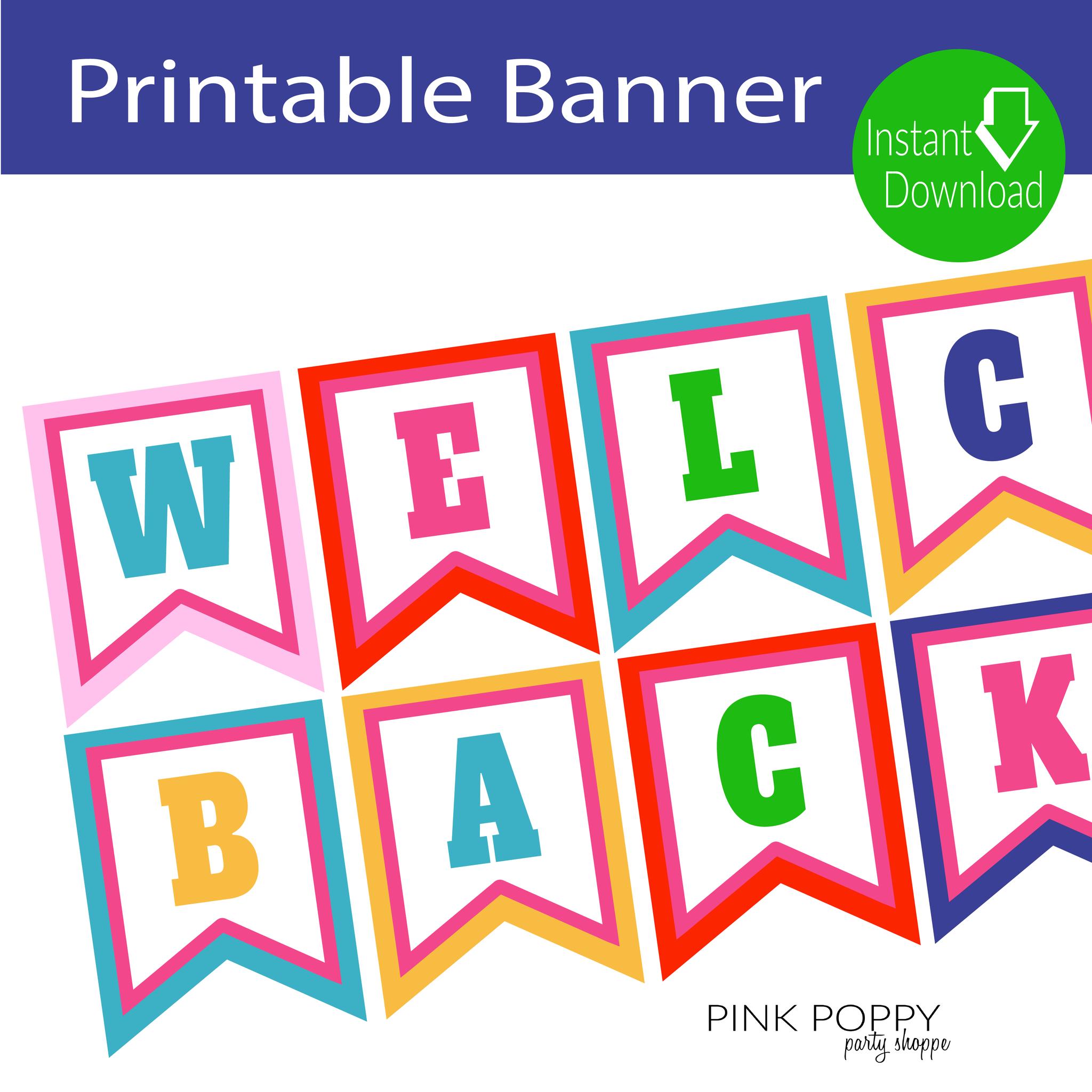 Free Printables} Welcome Back Banner   Edukacja   Edukacja - Welcome Back Banner Printable Free
