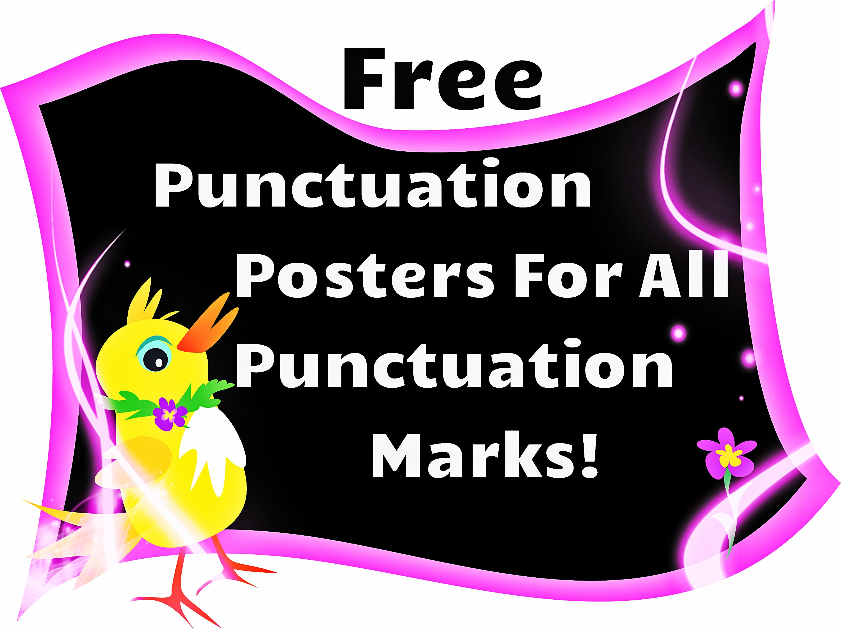 Free Punctuation Posters | Punctuation Posters Free | Readyteacher - Punctuation Posters Printable Free