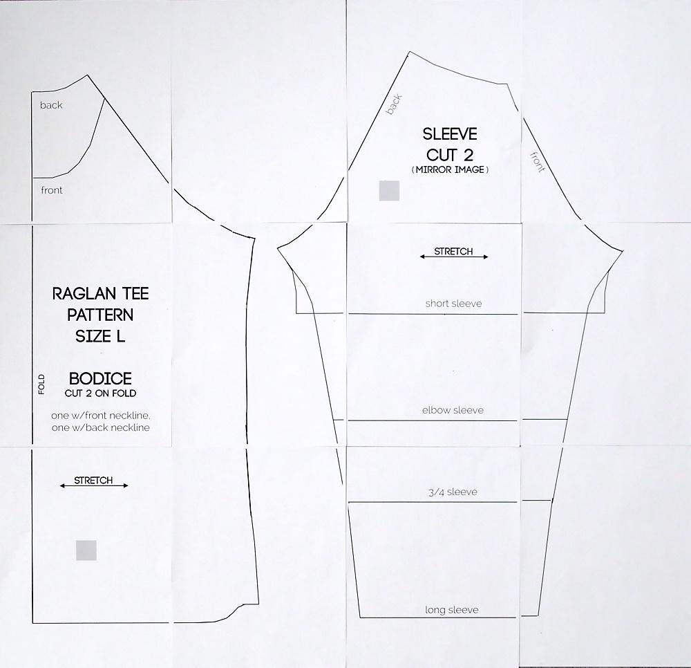 Free Raglan Tee Shirt Sewing Pattern {Women's Size Large} - It's - Free Printable Sewing Patterns Pdf