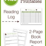 Free Reading Log & Book Report Form   My Joy Filled Life   Free Printable Book Report Forms