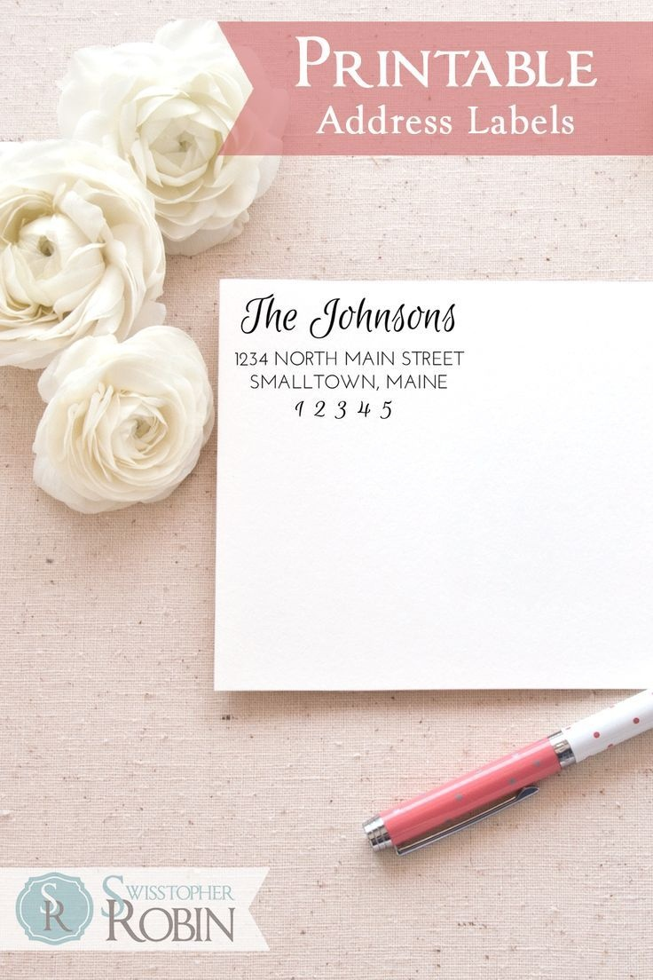 Free Return Address Labels. Beautiful And Elegant Printable Return - Free Printable Return Address Labels