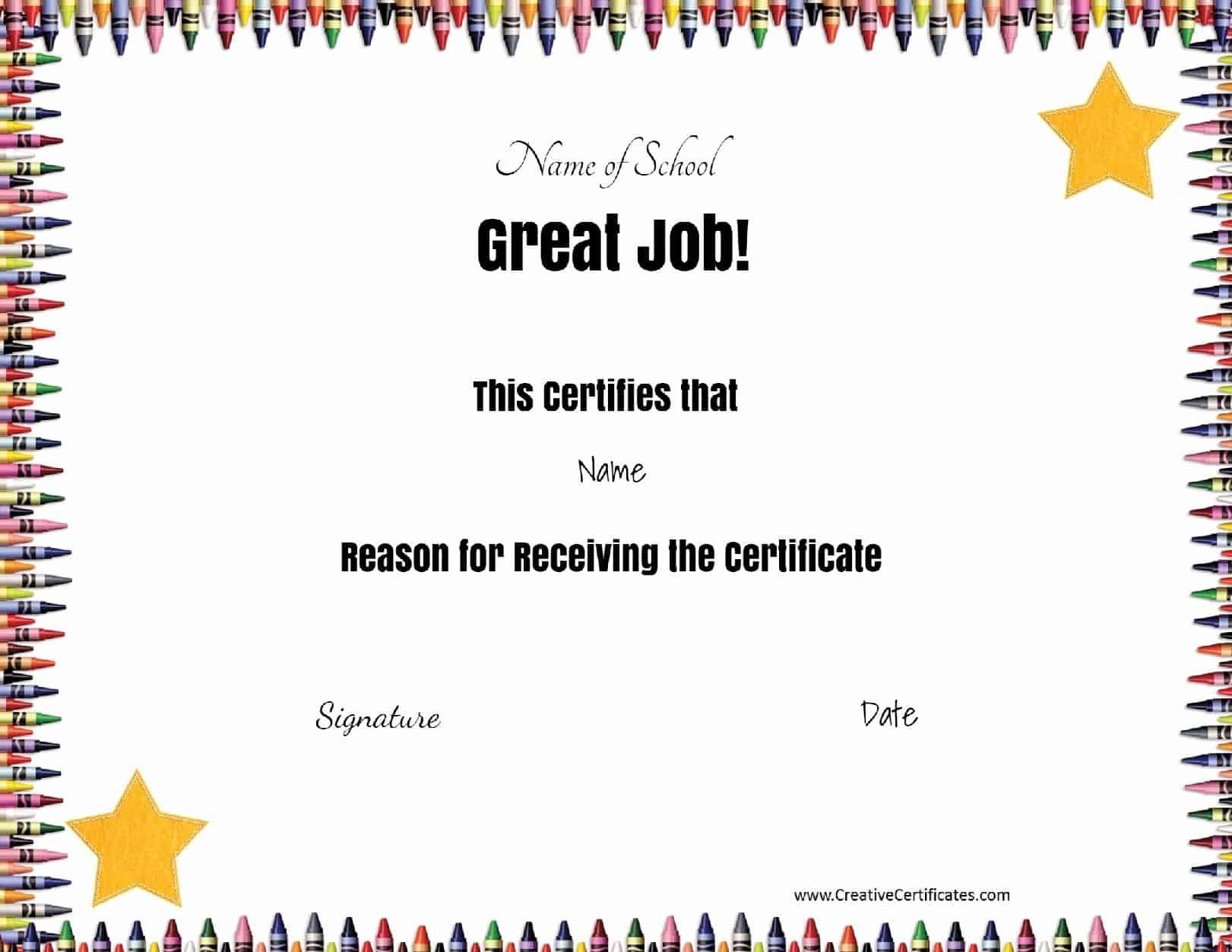 Free School Certificates & Awards - Free Printable Certificates For Teachers