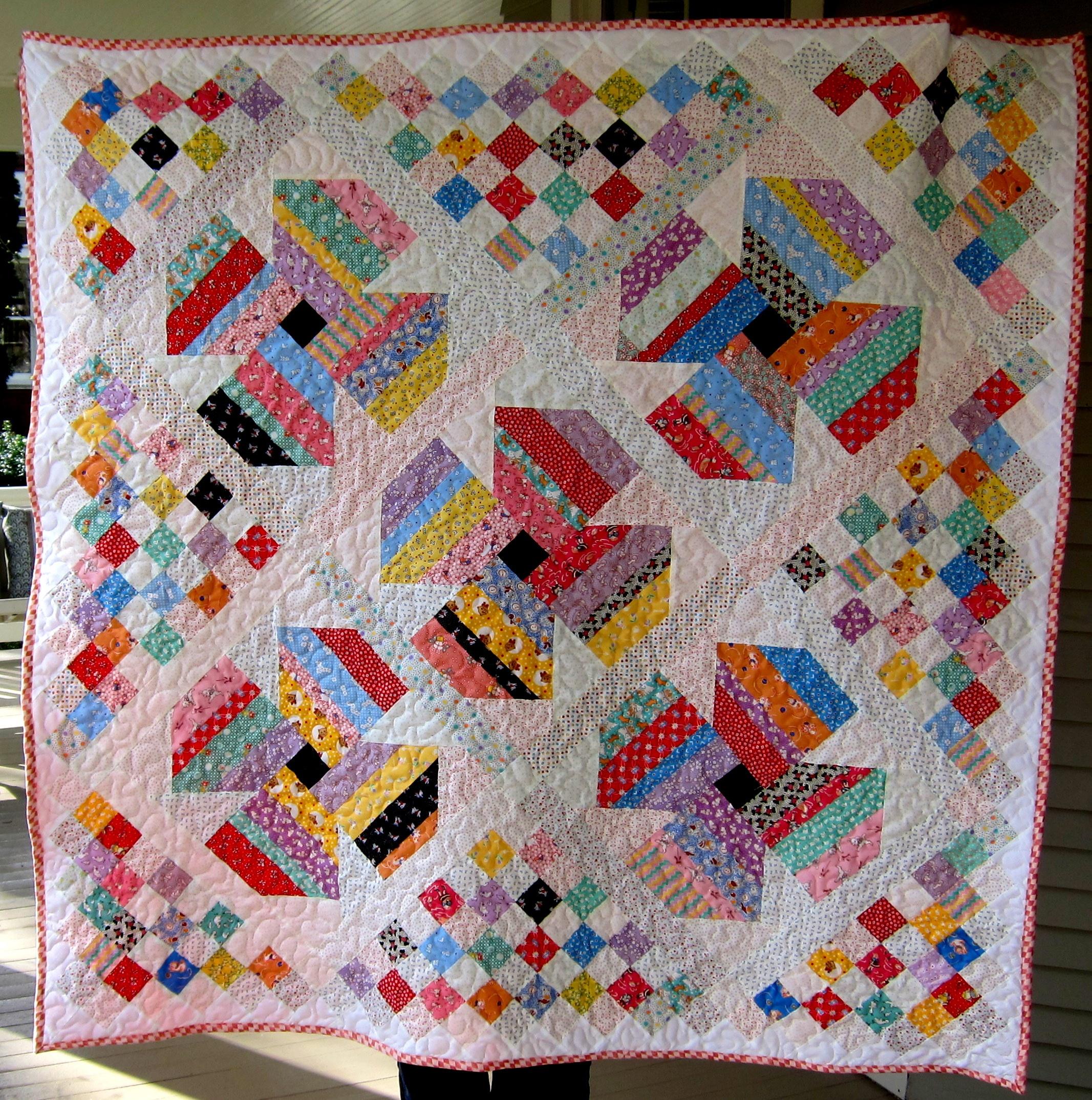 Free Scrap Quilt Pattern   - Free Printable Dutch Girl Quilt Pattern
