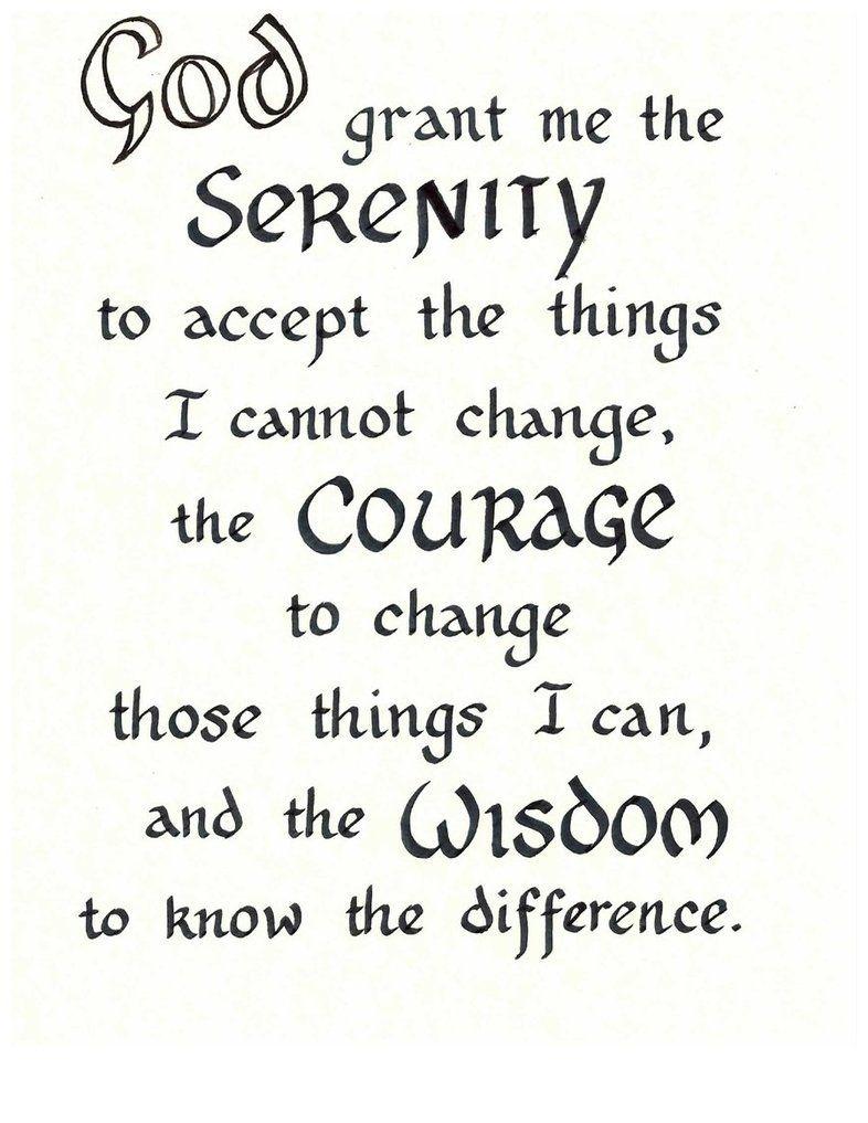 Free Serenity Prayer Printable Version | Serenity Prayer - Free Printable Serenity Prayer