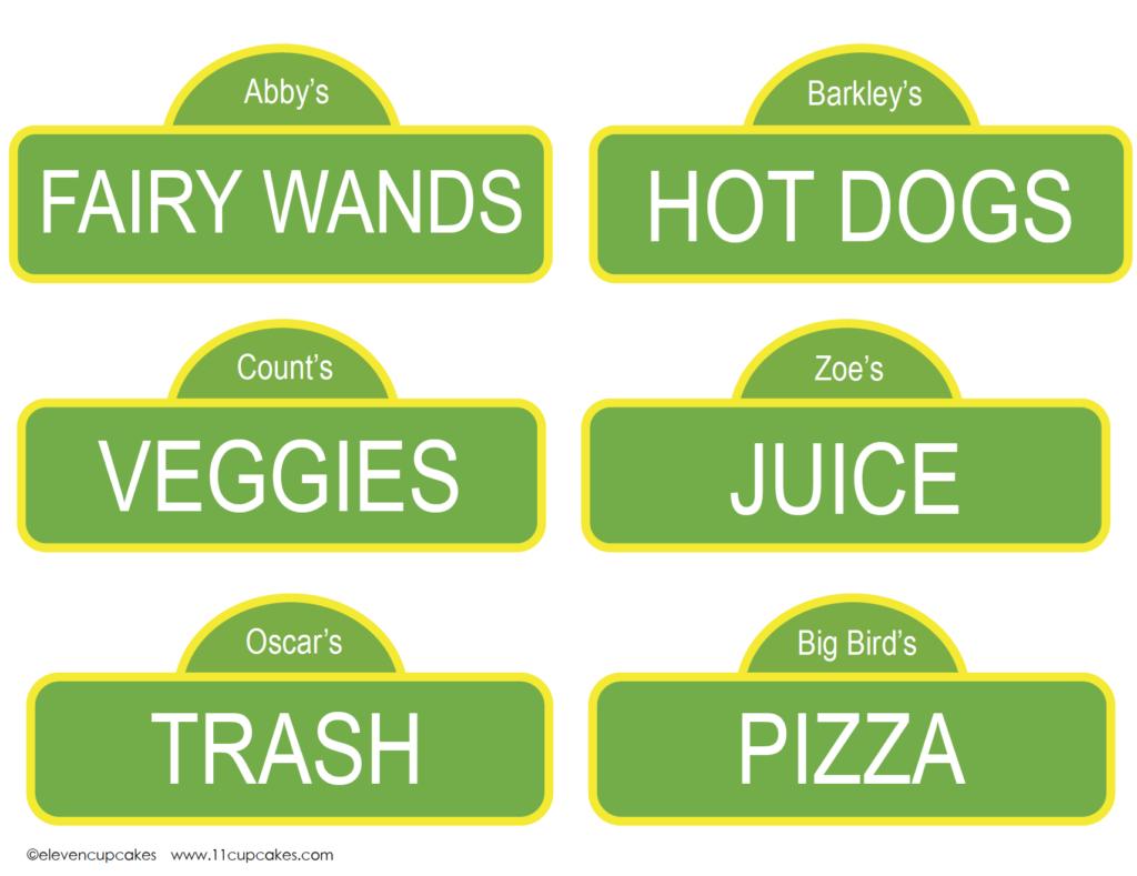 Free Sesame Street Printable Food Labels For Your Sesame Street Kids - Free Printable Sesame Street Food Labels