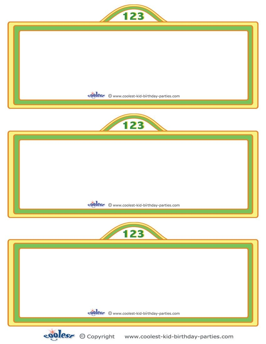 Free Sesame Street Templates    Printable Sesame Street Sign - Free Printable Sesame Street Food Labels