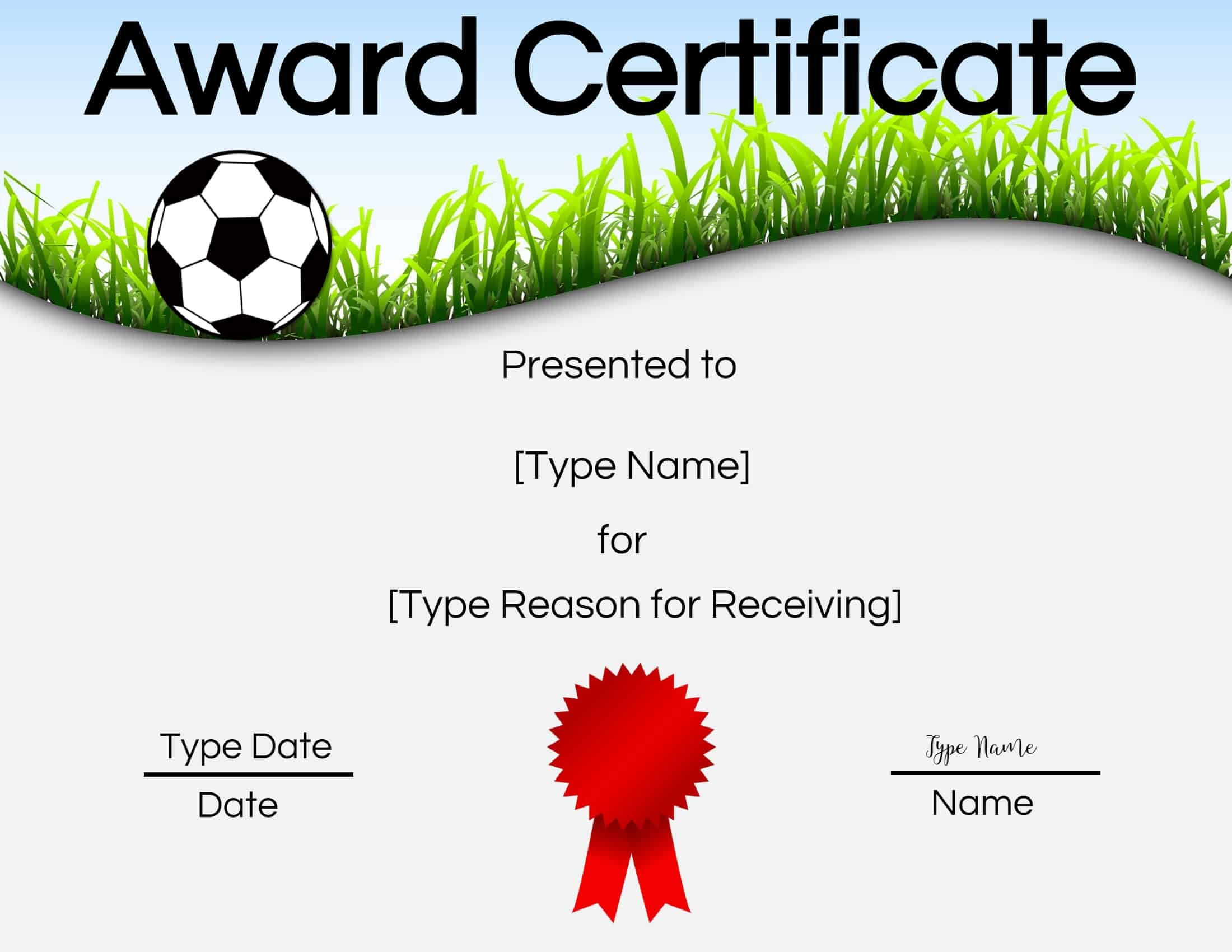 Free Soccer Certificate Maker | Edit Online And Print At Home - Free Soccer Award Certificates Printable