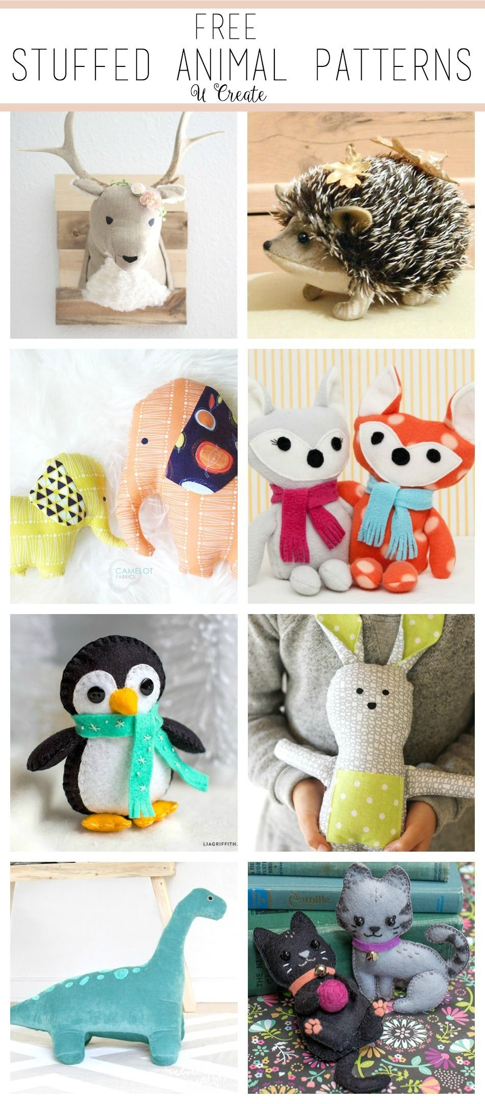 Free Stuffed Animal Patterns - The Cutest | Amigurumi | Sewing - Free Printable Stuffed Animal Patterns