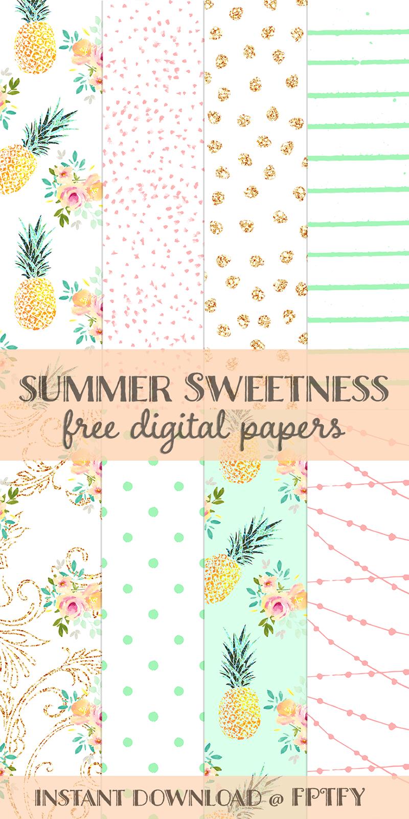 Free Summer Sweetness Digital Paper | Best Free Digital Goods - Free Online Digital Scrapbooking Printable