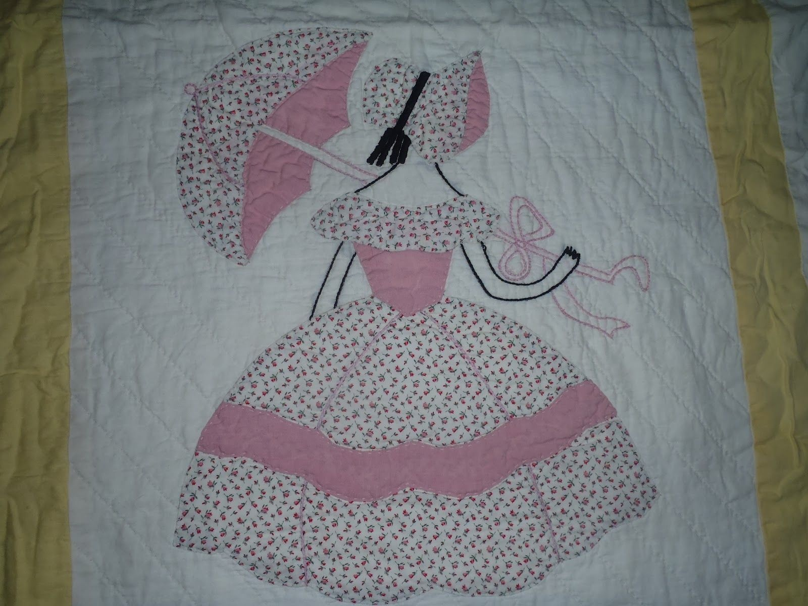 Free Sunbonnet Sue Quilt Pattern    From A Scrappy Quilter - Free Printable Dutch Girl Quilt Pattern
