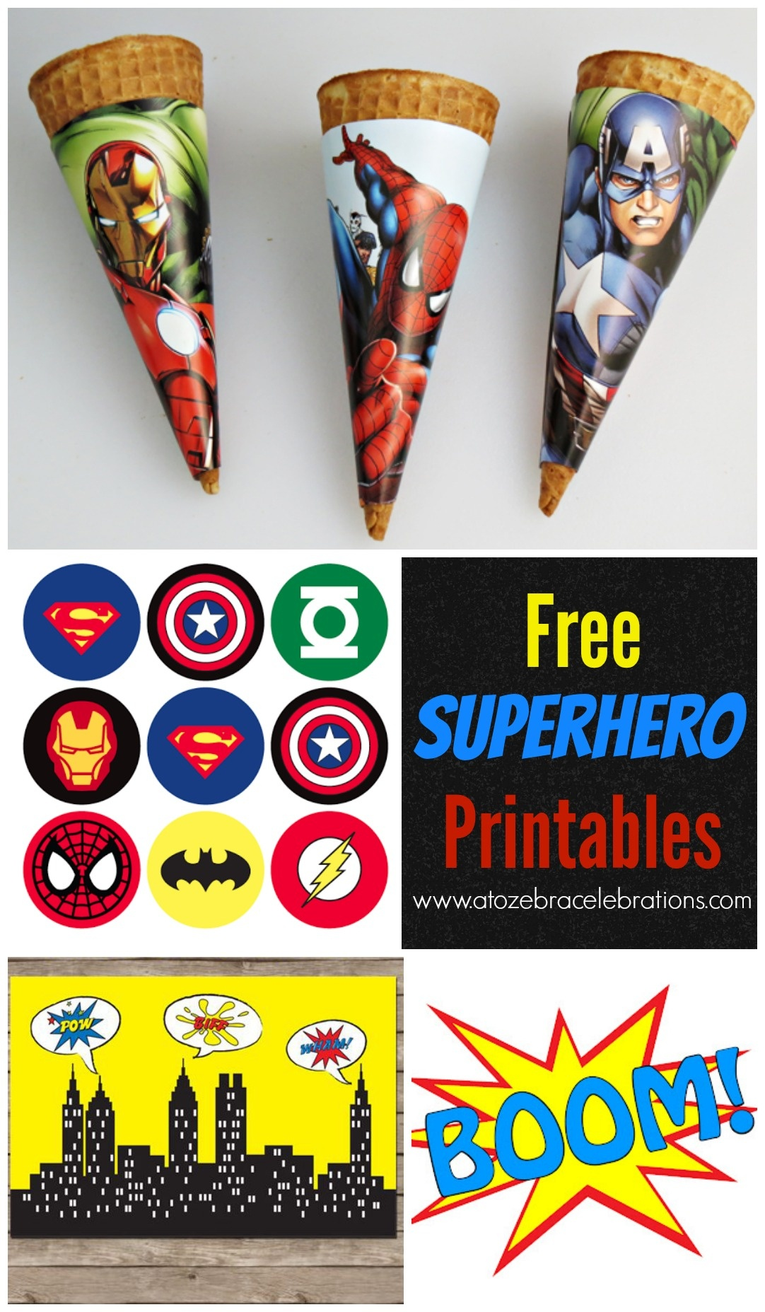Free Superhero Party Printables – Style With Nancy - Free Printable Superhero Pictures
