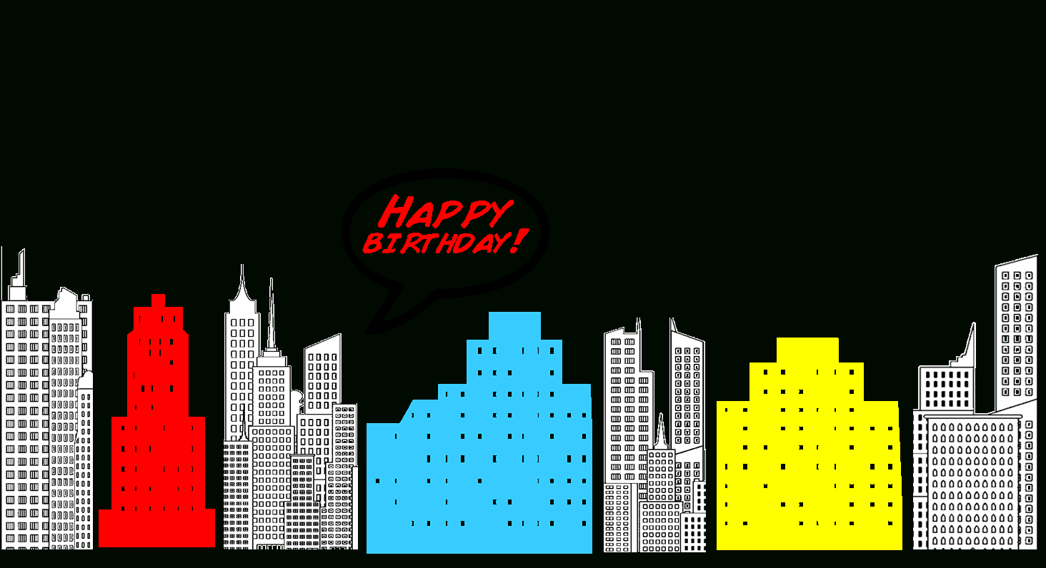 Free Superhero Printables, Download Free Clip Art, Free Clip Art On - Free Printable Superhero Skyline