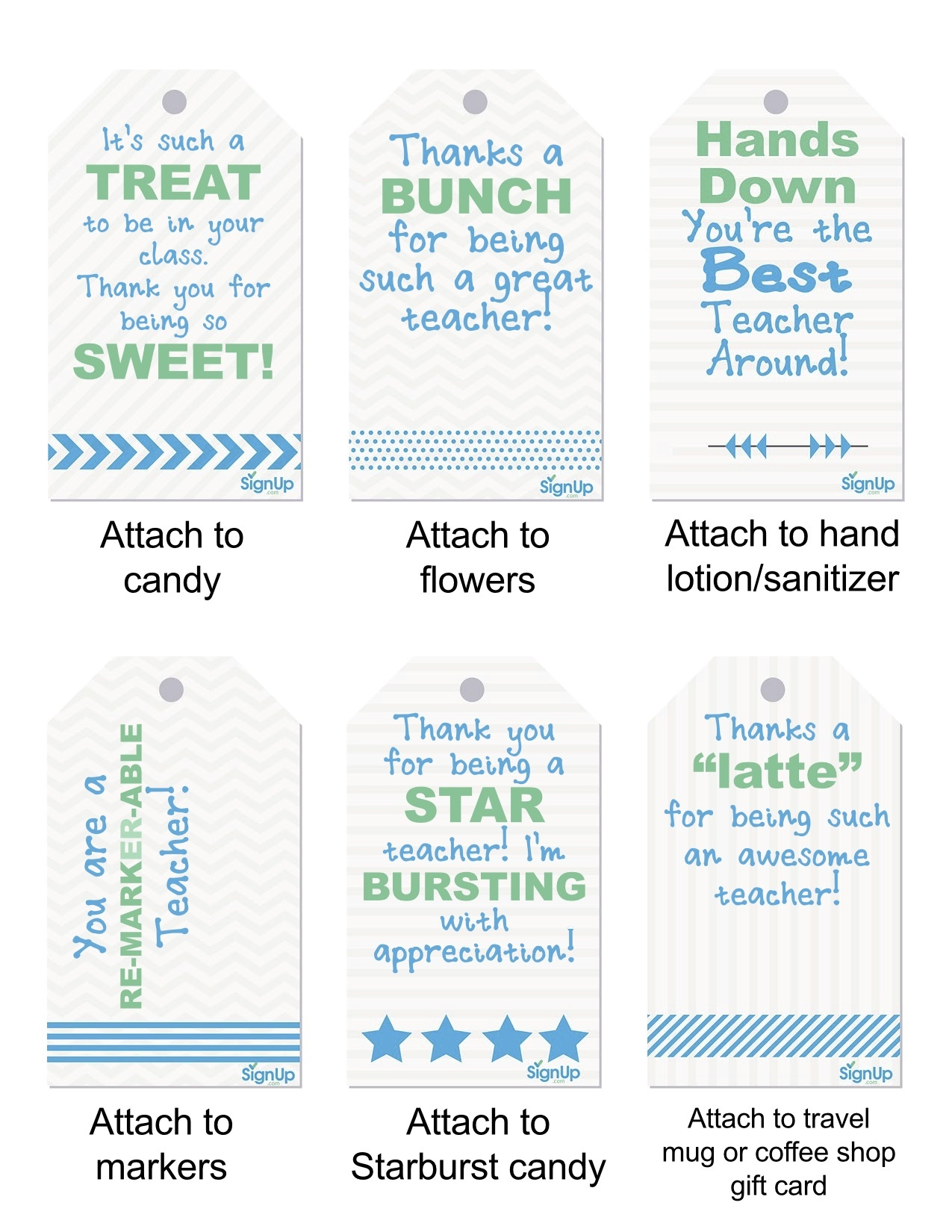 Free Teacher Appreciation Printables | Signup - Free Printable Tags For Teacher Appreciation