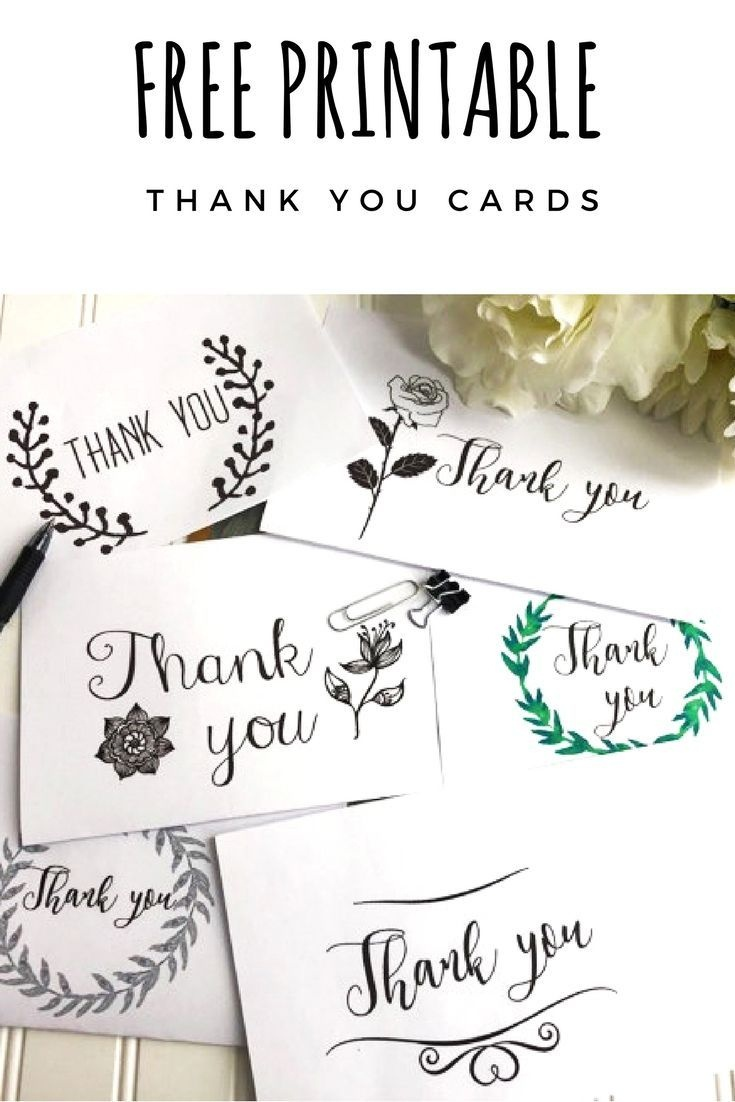 Free Thank You Cards Printables | Cameo Silhouette | Free Thank You - Free Printable Special Occasion Cards