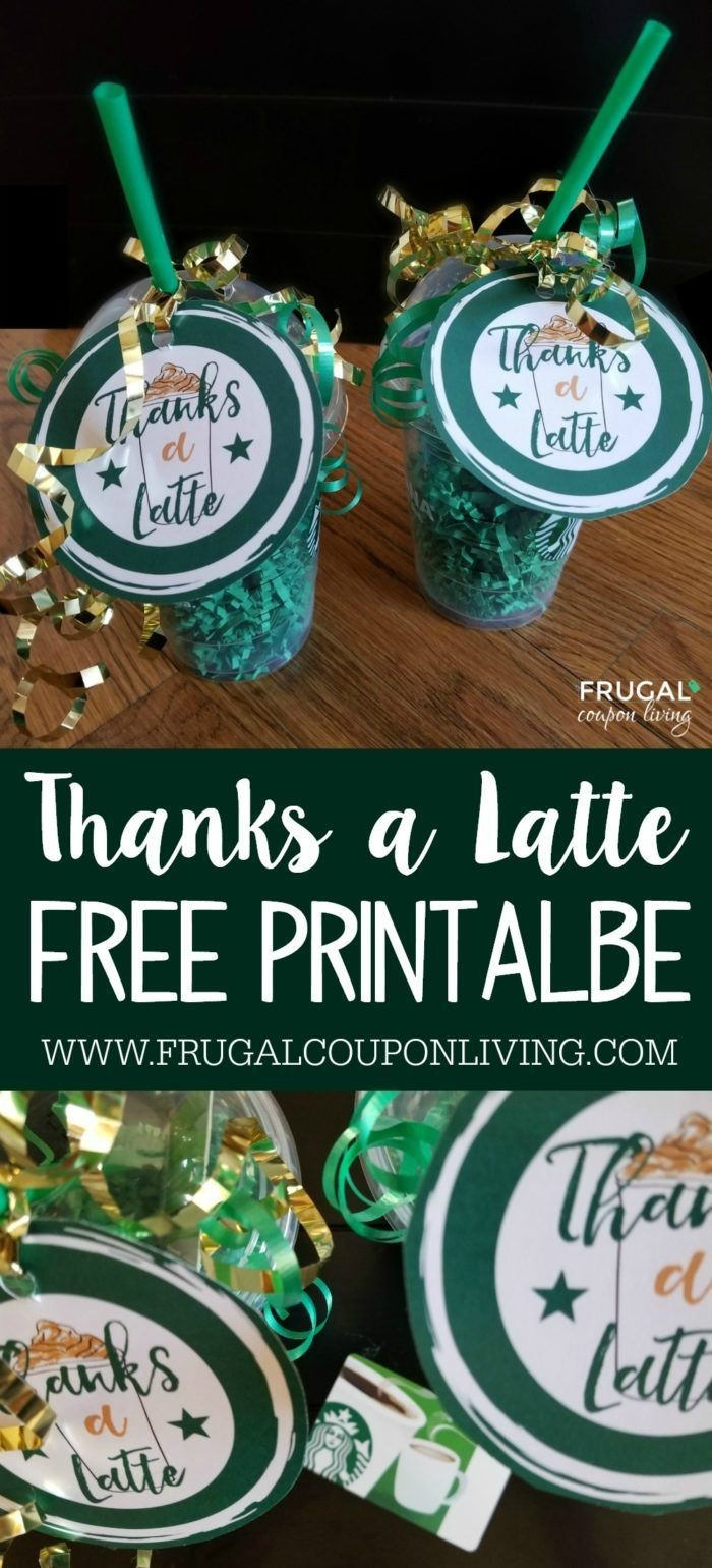 Free Thanks A Latte Printable | Do It Yourself Today | Thanks A - Thanks A Latte Free Printable Gift Tag