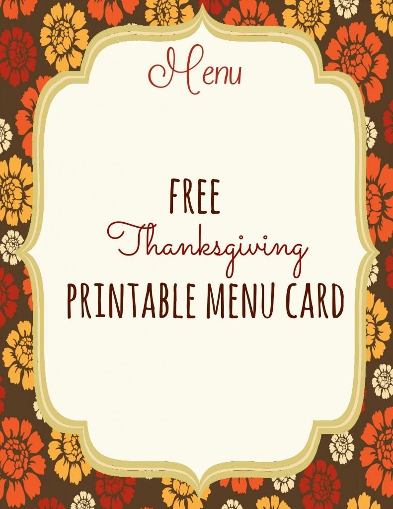 Free Thanksgiving Menu Templates – Happy Easter & Thanksgiving 2018 - Free Printable Thanksgiving Menu Template