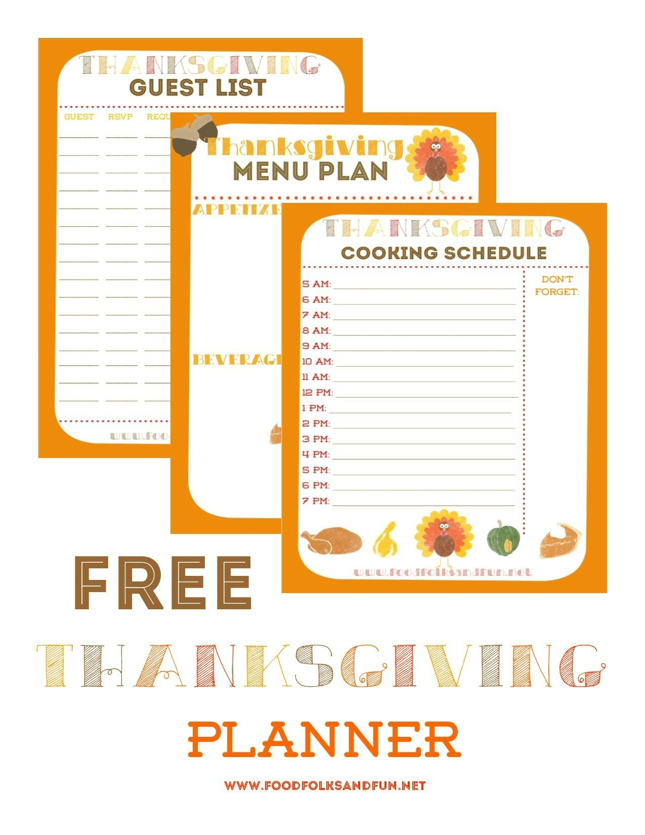 Free Thanksgiving Planner With 5 Printables To Help Keep You - Free Printable Thanksgiving Menu Template
