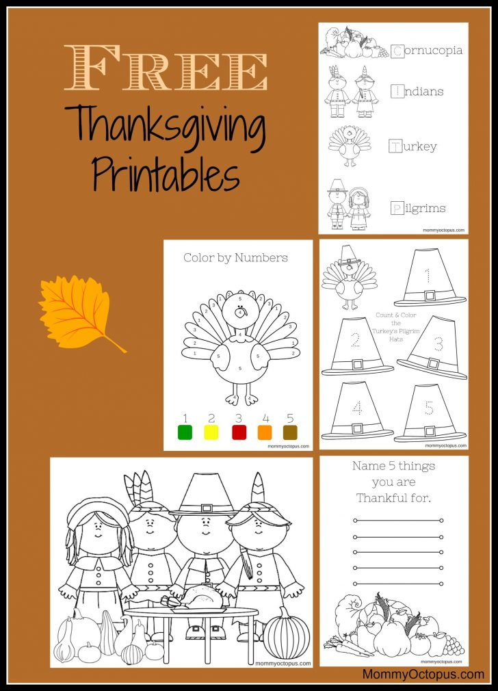 Free Printable Thanksgiving Activities For Preschoolers