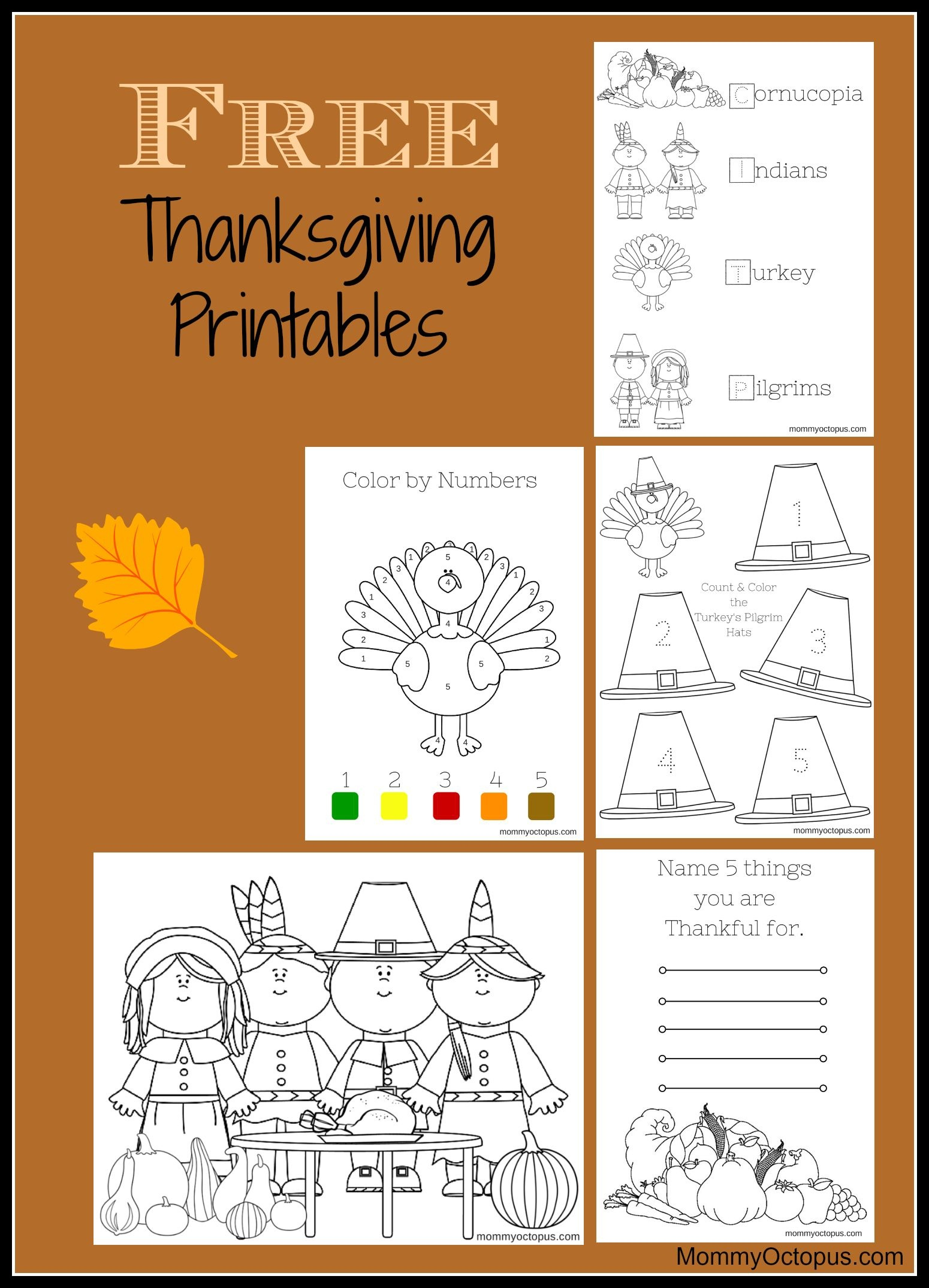 Free Thanksgiving Printable Activity Sheets! | Thanksgiving & Fall - Free Printable Thanksgiving Activities For Preschoolers