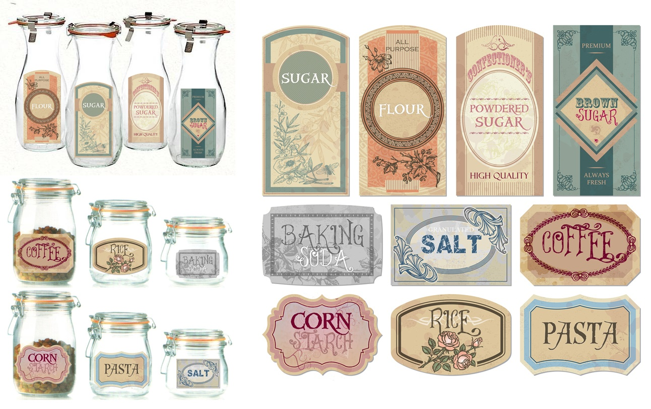 Free The Diva: Freebies - Free Printable Old Fashioned Labels
